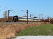 DSB ER 43 som IC 839 Kk-Es. Km 167,6 Kh (Odense-Holmstrup) 31.01.2021.