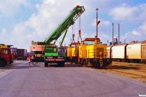 DSB MK 611 og MK 603 - Udskiftning af hjulaksler. Odense 22.03.1997.