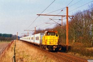 DSB MK 601+23 Lgs som G 6952 Te-Pa. Km 98,7 Fa (Tinglev-Vejbæk) 24.03.1997.