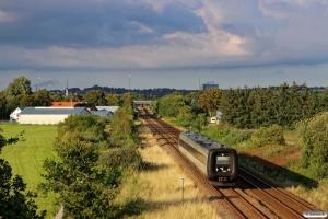 DSB MF 92 som L 70 Fh-Kh. Km 243,4 Fa (Svenstrup Jylland-Skalborg) 15.08.2016.