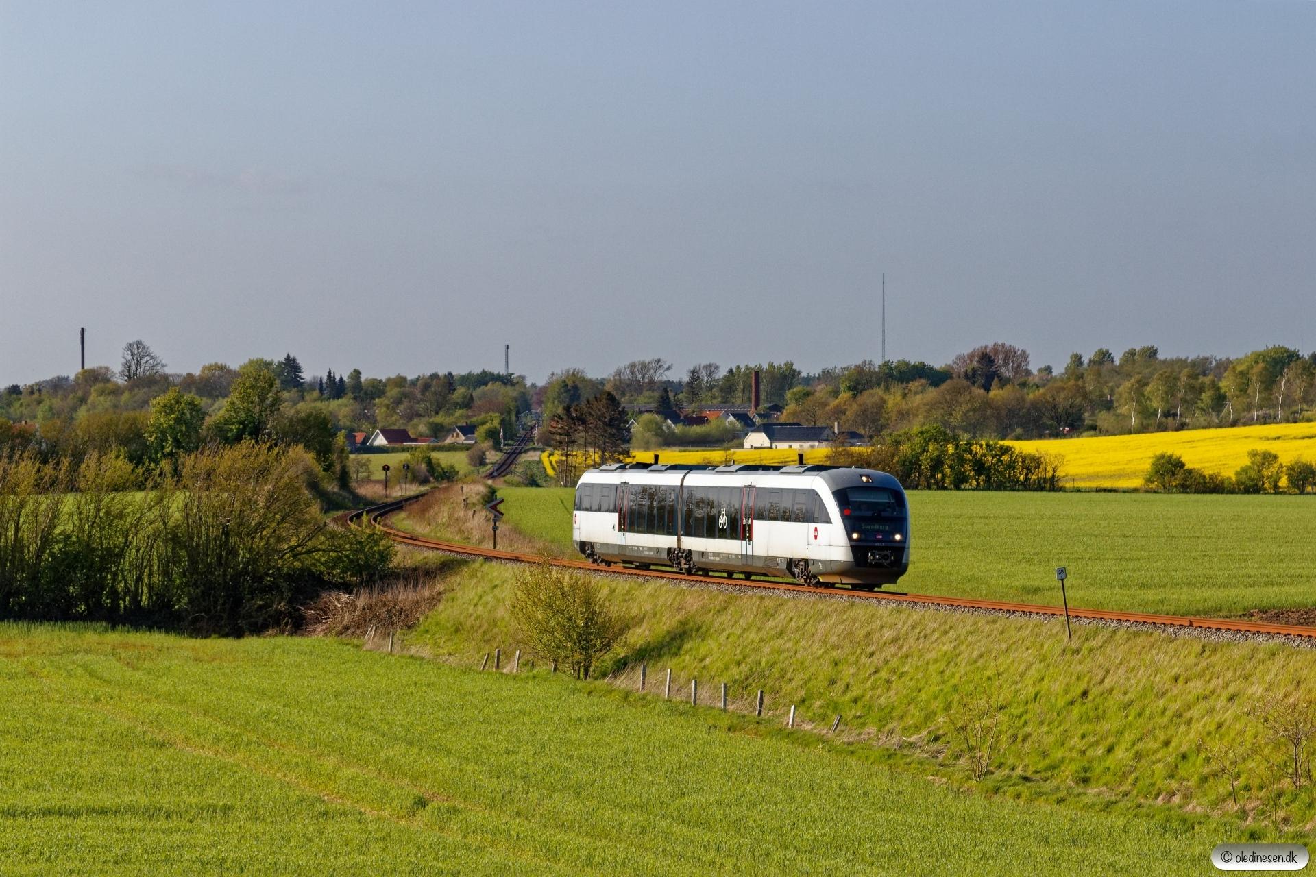 DSB MQ 17 som RV 2861 Od-Svg. Km 38,4 Od (Stenstrup Syd-Svendborg Vest) 07.05.2020.