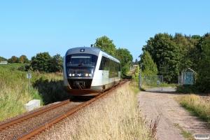 DSB MQ 27 som PA 4951 Odd-Ar. Km 22,6 Hov (Vilhelmsborg-Mårslet) 17.08.2016.