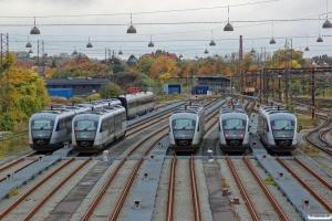DSB MQ 15, MQ 20, MQ 25, MQ 29 og MQ 18. Odense 23.10.2016.