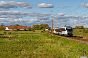 DSB MQ 22+MQ 16 som RØ 1865 Ro-Næ. Km 77,8 Kh (Haslev-Holme-Olstrup) 14.05.2020.