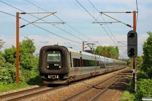 DSB ET 41+SJ X31K 101+X31K 103+X31K 102 som ØM 21457 Phm-Oj. Km 155,6 Kh (Marslev-Odense) 01.06.2013.