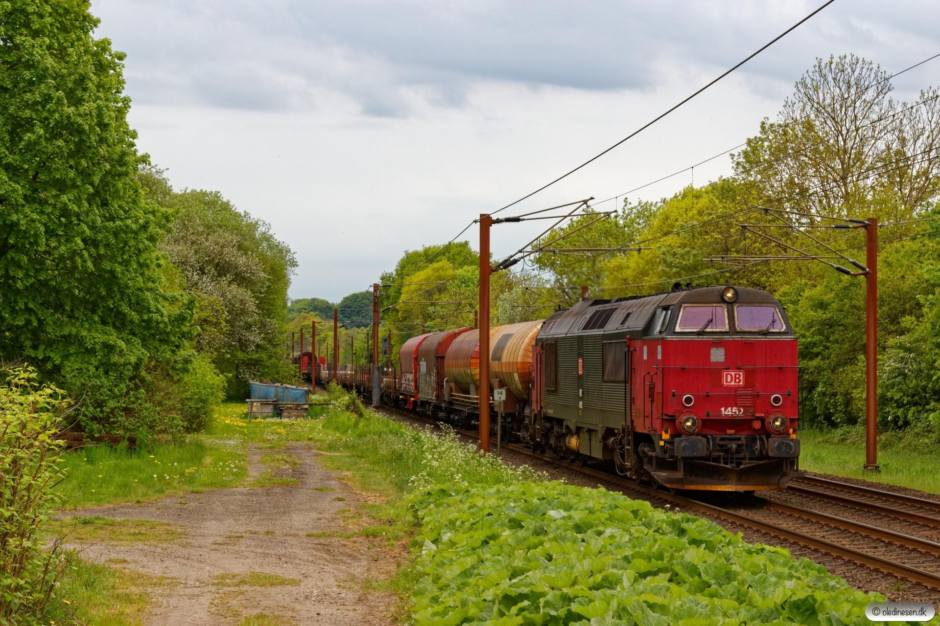 DBCSC MZ 1452 med G 97442 Vm-Fa. Km 14,4 Fa (Taulov-Kolding) 22.05.2020.
