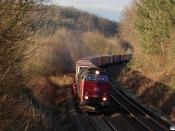 DBCSC MZ 1453 med G 9261 Tl-Ar. Km 34,6 Fa (Vejle-Hedensted) 28.01.2021.