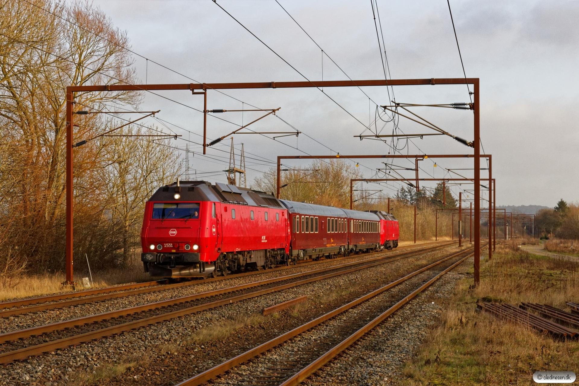 DSB ME 1531+S 001+WRm 603+ME 1536 som M 6545 Gb-Ar. Årup 30.12.2019.