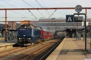 DSB ME 1524+S 001+WRm 603 som M 6261 Kh-Bb. Odense 01.11.2014.