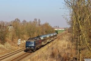 DSB ME 1518 med RØ 2226 Nf-Kh. Km 66,6 Kh (Ringsted-Glumsø) 19.03.2015.