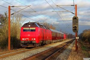 DSB ME 1521+S 001+WRm 603+ME 1528 som EP 8011 Kh-Ar. Km 165,0 Kh (Odense-Holmstrup) 21.01.2017.