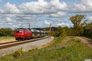 DSB ME 1508 med RØ 4935 Kj-Nf. Km 98,0 Kh (Næstved-Lundby) 13.05.2020.