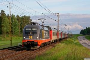 HCTOR 242.503 med RST 7142. Boxholm - Mjölby 07.06.2012.