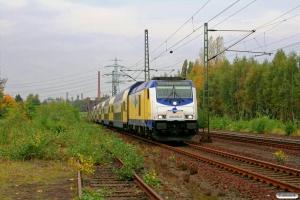 MET 246 002-0 med ME 39420. Hamburg Unterelbe 18.10.2008.