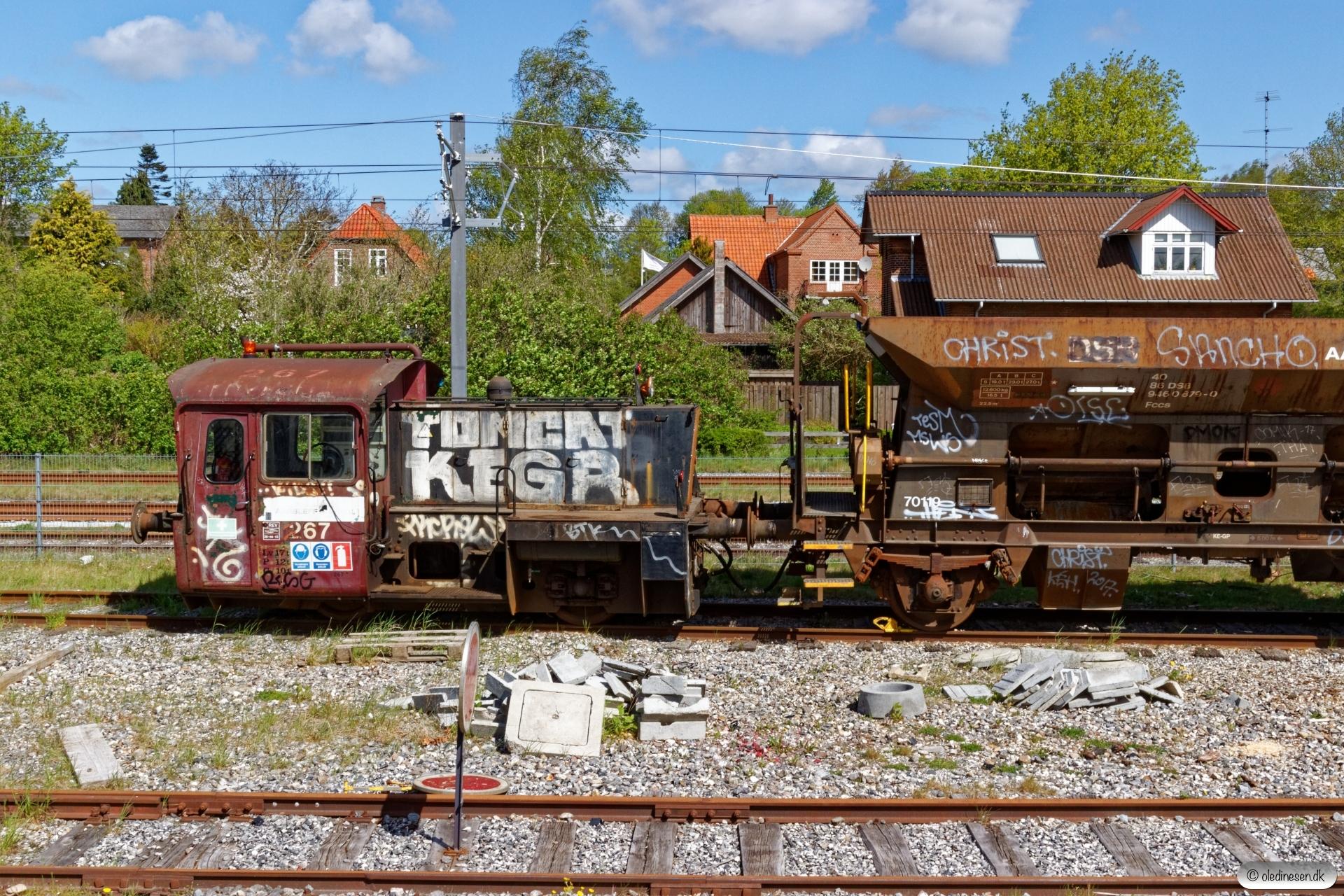 ARAIL Køf 267. Ryomgård 03.05.2019.