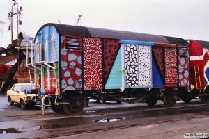 Vogn 19 (ex. Gkms 20 86 139 9 224-6). Svendborg 31.01.1990.