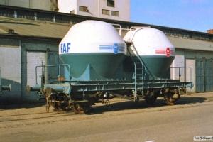 FAF vogn D (ex. Ucs 42 86 910 6 002-7). Svendborg 07.08.1988.