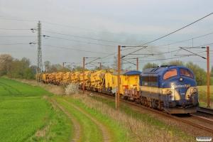 CONTC MY 1158+Strukton ballastrensetog som BG 6101 Gl-Tl. Km 170,0 Kh (Holmstrup-Tommerup) 21.04.2014.
