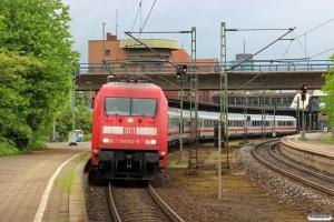 DB 101 014-9 med IC 2377. Hamburg-Harburg 10.05.2014.