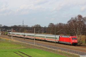 DB 101 084-2 med IC 2373. Radbruch - Bardowick 22.03.2014.