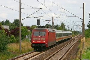 DB 101 088-3 med ICE 381. Padborg - Flensburg 26.06.2009.