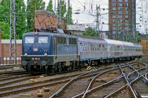 DB 110 155-9. Köln Hbf 14.07.1989.