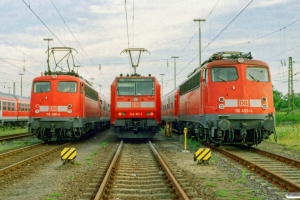 DB 110 488-4, 146 101-1 og 110 493-4. Bremerhaven-Lehe 18.06.2006.