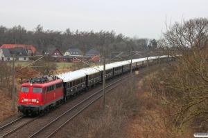 DB 115 448-3 med NF 13997 Pa-Venezia S. Lucia. Flensburg-Weiche 14.04.2013.