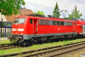 DB 111 137-6 med RE 14413. Dörverden 26.05.2005.