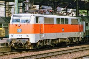 DB 111 161-6. Köln Hbf 14.07.1989.