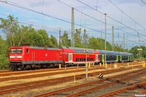 DB 112 147-4 med materiel til RE 21083. Flensburg 17.06.2016.