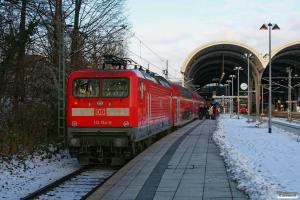 DB 112 154-0 med RE 21018. Kiel Hbf 19.01.2013.