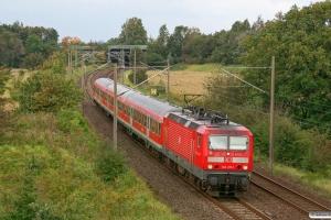 DB 143 211-1 med RB 21073. Flensburg-Weiche 24.09.2011.