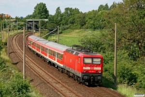DB 143 616-1 med RB 21068. Flensburg-Weiche 12.06.2011.