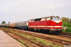 DR 119 036-2 med D 443. Haldensleben 20.05.1991.