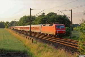 DB 120 111-0 med CN 1273. Padborg 28.06.2014.