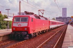 DB 120 130-0 med IC 787. Hamburg-Altona 10.08.1991.