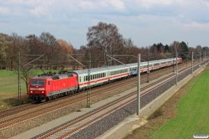 DB 120 145-8+9 personvogne+120 125-0. Bardowick - Radbruch 22.03.2014.