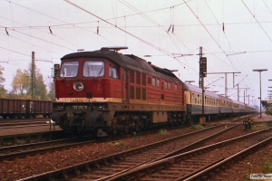 DR 132 454-0 med D 345. Helmstedt 17.10.1988.