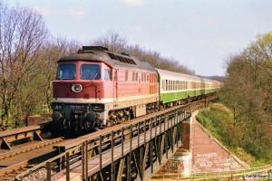 DR 132 530-7 med D 336. Büchen 31.03.1990.