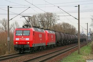 DB 145 003-0+145 001-4. Hamburg-Moorburg 28.03.2009.