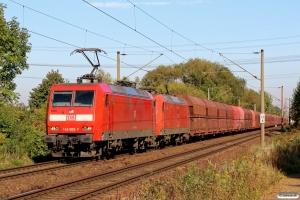 DB 145 009-7+145 073-3. Hamburg-Moorburg 10.10.2015.