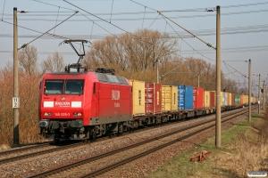 DB 145 025-3. Hamburg-Moorburg 25.03.2010.