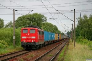 DB 151 032-0. Hamburg-Moorburg 05.06.2009.
