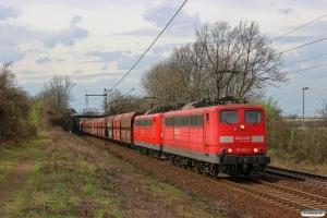 DB 151 069-2+151 129-4. Ahlten 21.03.2014.