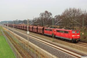 DB 151 098-1+151 116-1. Radbruch - Bardowick 22.03.2014.