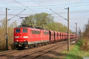 DB 151 116-1+151 098-1. Hamburg-Moorburg 07.04.2011.