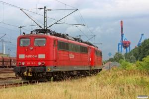 DB 151 119-5+151 110-4. Hamburg-Waltershof (Hansaport) 08.08.2013.