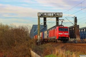 DB 152 078-2. Hamburg Süderelbbrucke 20.03.2014.