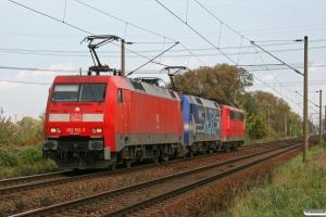 DB 152 151-7+152 135-0+151 089-0. Hamburg-Moorburg 18.10.2008.